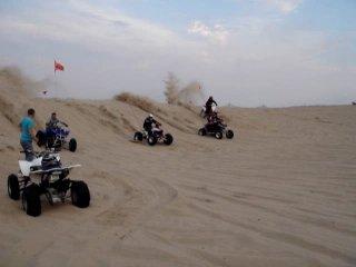 Гонки квадров на песке!!!
